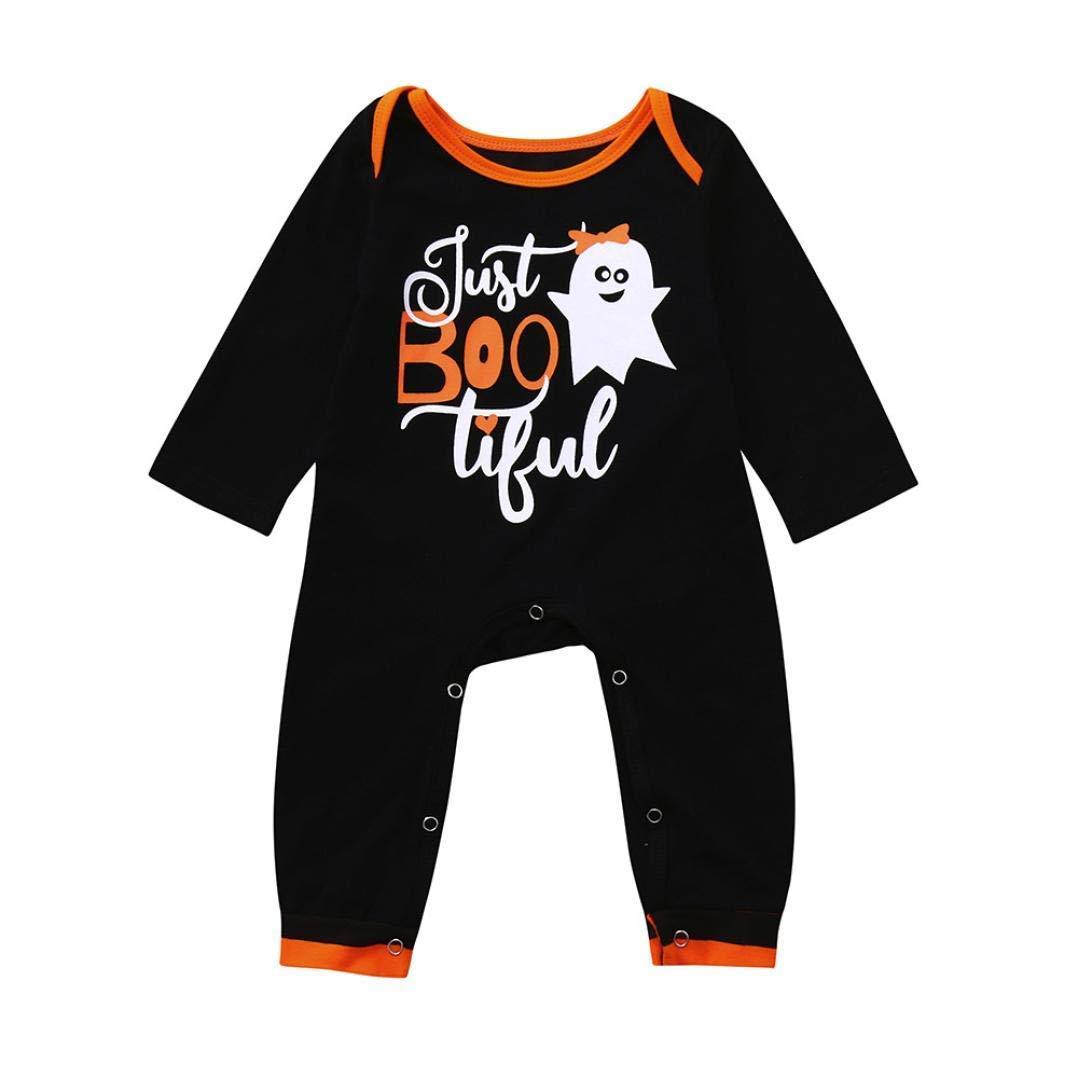 Newborn Long Sleeve Autumn Halloween Jumpsuit,Jchen(TM) Infant Toddler Baby Girls Boys Ghost Romper Halloween Party Jumpsuit for 0-24 Months (Age: 12-18 Months)