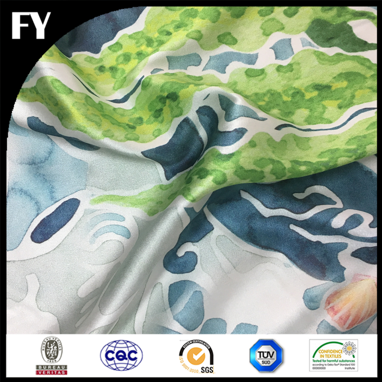 Digital textile printing silk 12/14/16/19 mm silk fabrics for scarf