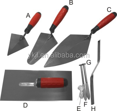 5pcs soft grio trowel set London brick trowel pointing trowel gauging trowelbrick jointer