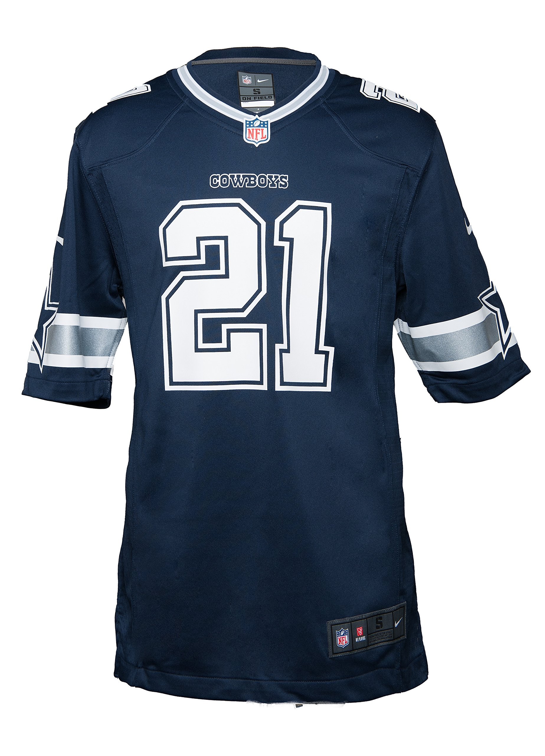 a71795b22 Get Quotations · Dallas Cowboys Ezekiel Elliott Nike Navy Game Replica  Jersey