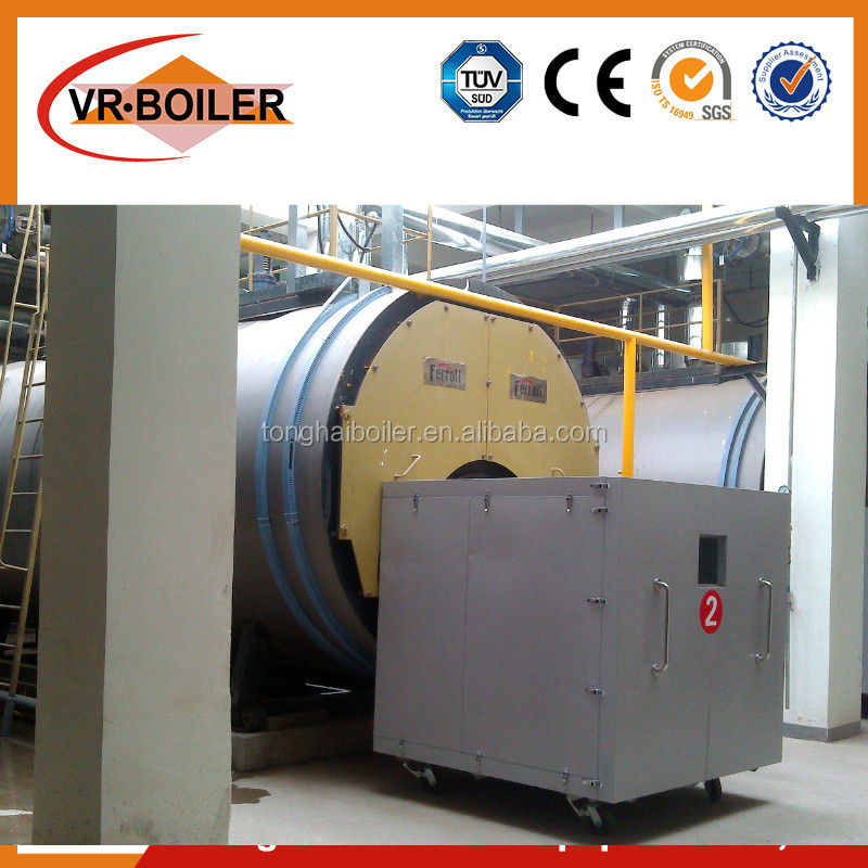 Oil fuel fired industrial fire tube boiler