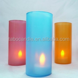 People Loved Amber Color Coin Battery Operated Flameless Votive Candles For Church Praying