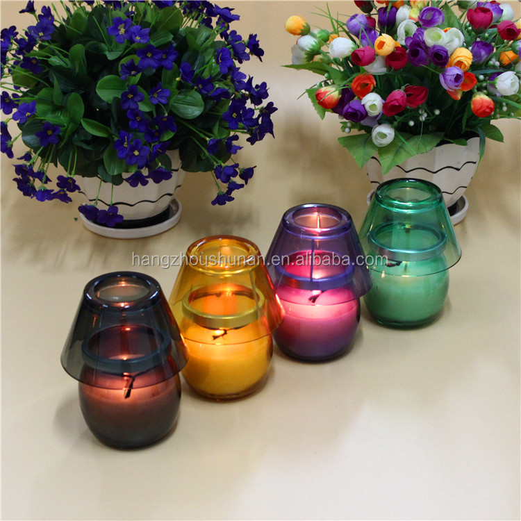 Desk lamp shape scented candle in color box
