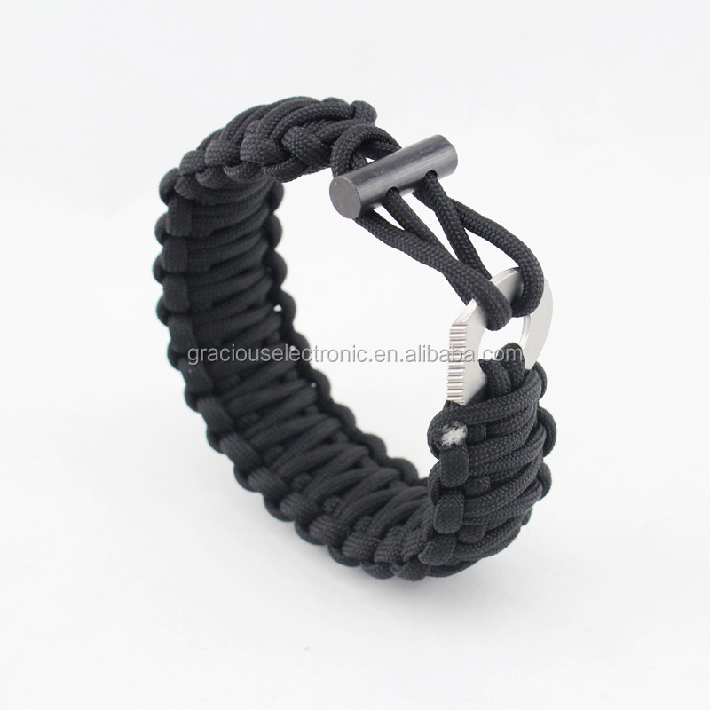 Paracord armband survival kit met firesteel toggle voor camping fire vanaf