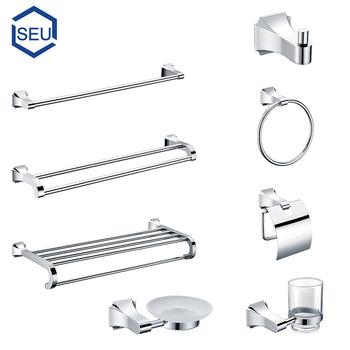 Etonnant Simple Home Center Chrome Bathroom Accessories
