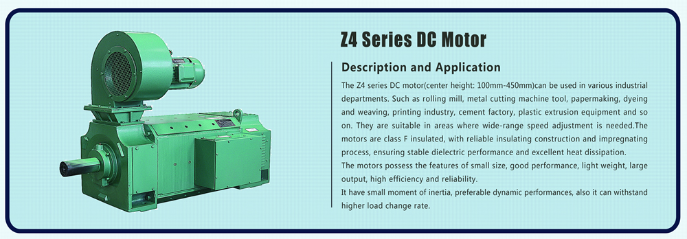 Z4 series 1.4 KW 1.5 KW 2 KW 2.2 KW 4 KW brush brushed dc electric motor Z4-100-1 1.4KW 1.5KW 2KW 2.2KW 4KW