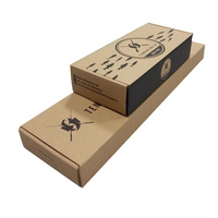 High quality natural brown corrugated tuck top paper box with insert lining for fishing gear on sale