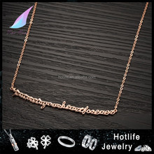 2016 new trending hot products 18K rose gold plated personalized pendant best friend