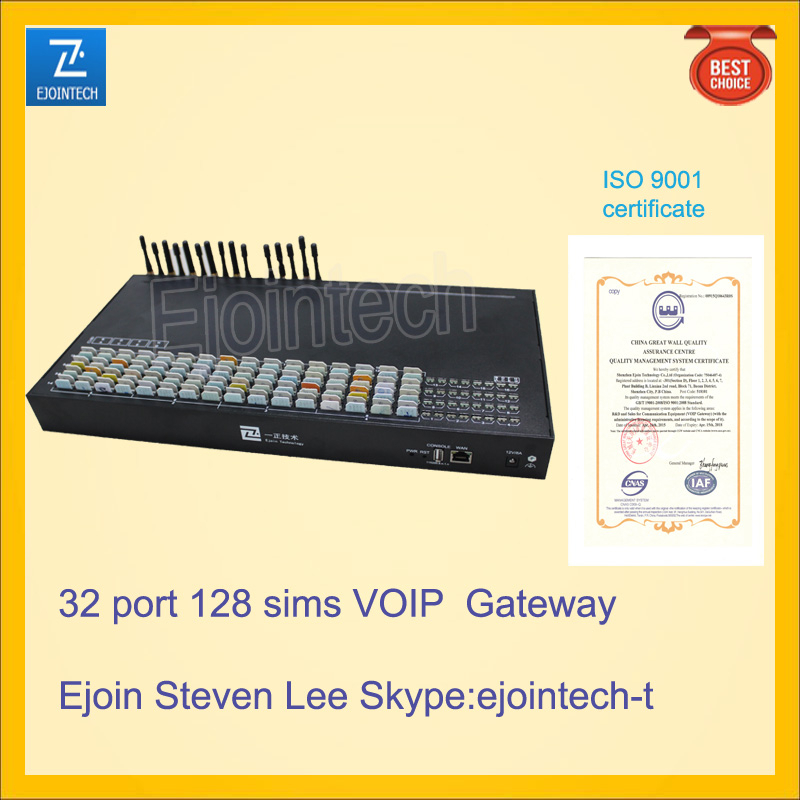 32 port VOIP gateway, anti sim block GOIP gateway, support MPN gateway, huge cost saving