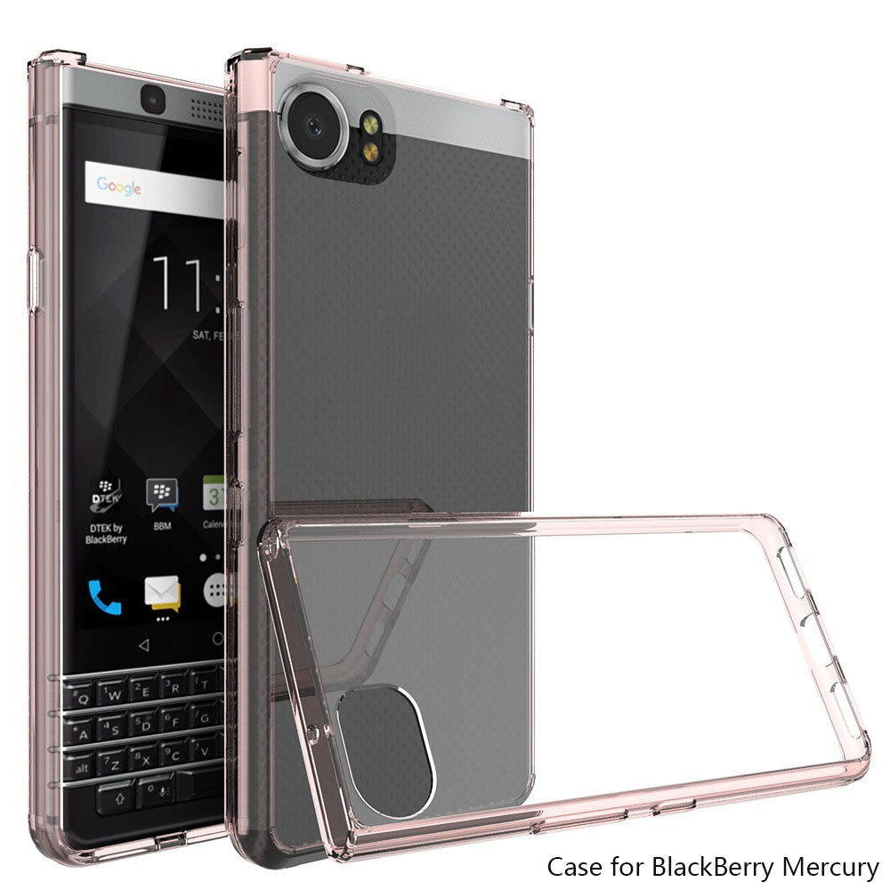 Wholesale Shockproof Hybrid Tpu Frame Clear PC Hard Case For blackberry keyone