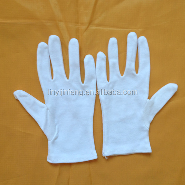 2014 lady fashion thin white cotton gloves