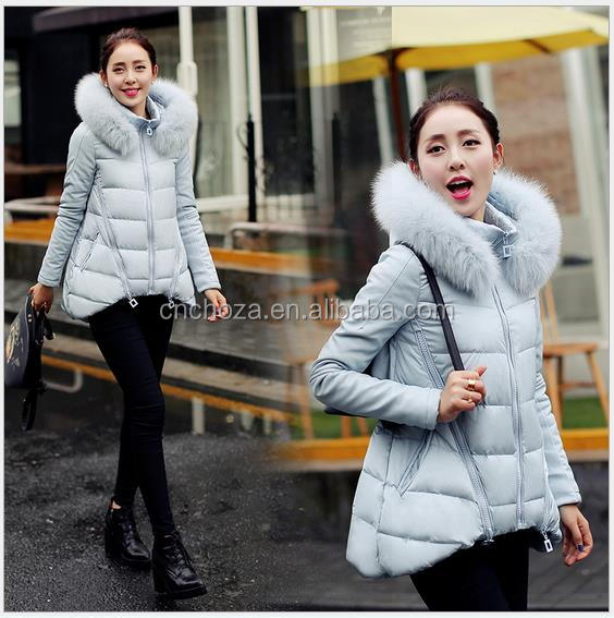 Z10685A European Newest design Down Coat Fox Fur Collar A-line Cloak Coat