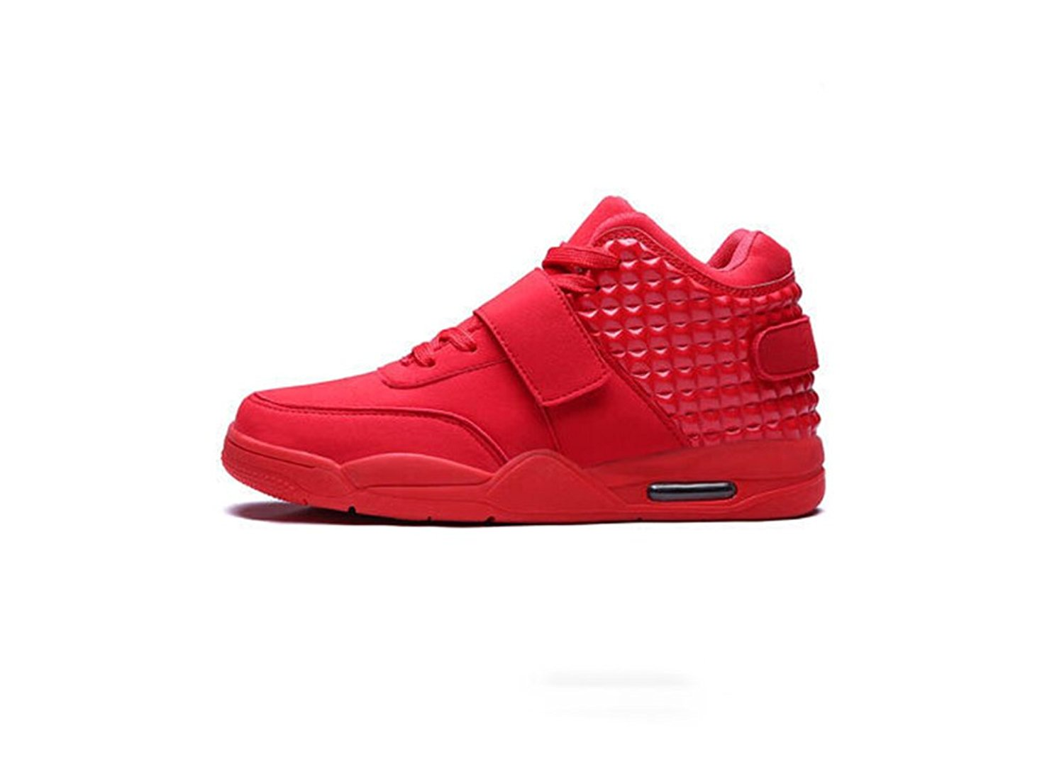 best service 9a8f8 06029 Get Quotations · Veribuy Fashion Men s High Top Sneakers Wearable Non-Slip  Basketball Shoes Red White