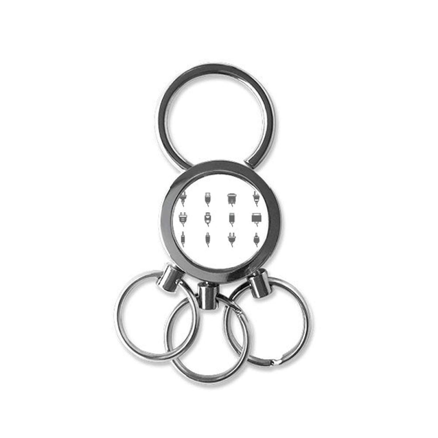 Cheap Circuit Connection Diagram Find Hearing Aids Wiring Get Quotations Plug Socket Pattern Stainless Steel Metal Key Chain Ring Car Keychain Keyring Clip Gift