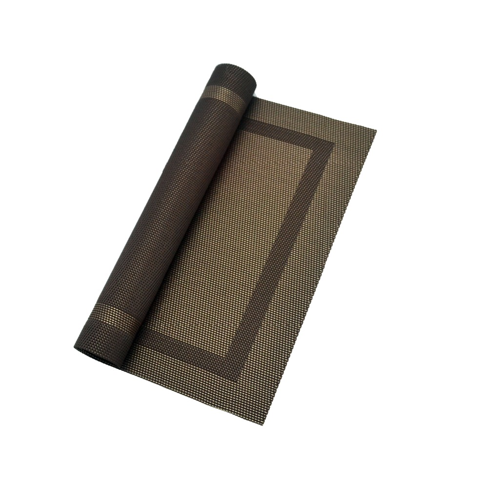 PVC Rubber Placemats beautiful coasters embossed leather coaster