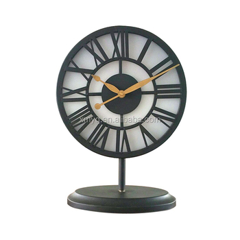 Fancy Decorative Table Clock Fashion Metal LED Table Clock