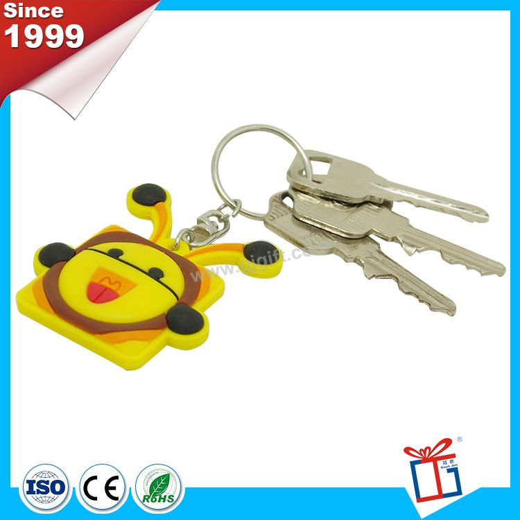 Different colors wholesale premium soft pvc keychain toy figure