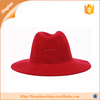 GENTLEMANS 100% WOOL HOMBURG HAT RED HAT