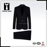 new style 2buttons notch lapel 100% wool mens office wear