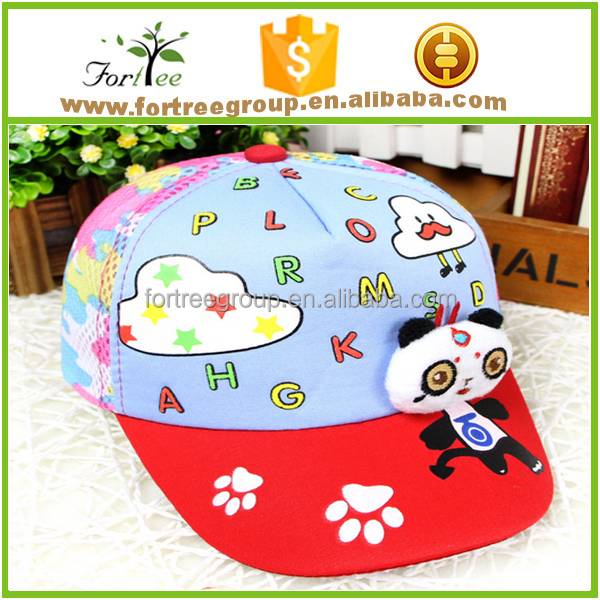 wholesale kids promotional 6 panel baseball caps