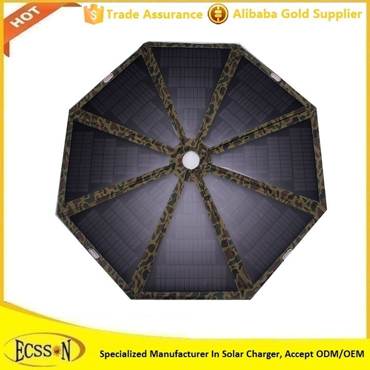 high quality promotional 50inch solar power charger usb outdoor umbrella with led light