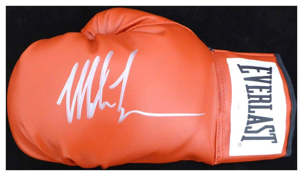 7b8219367bf Mike Tyson Signed Autograph Red Everlast Boxing Glove LH Signed Autograph In  Silver TriStar Stock  128294 - Certified Authentic