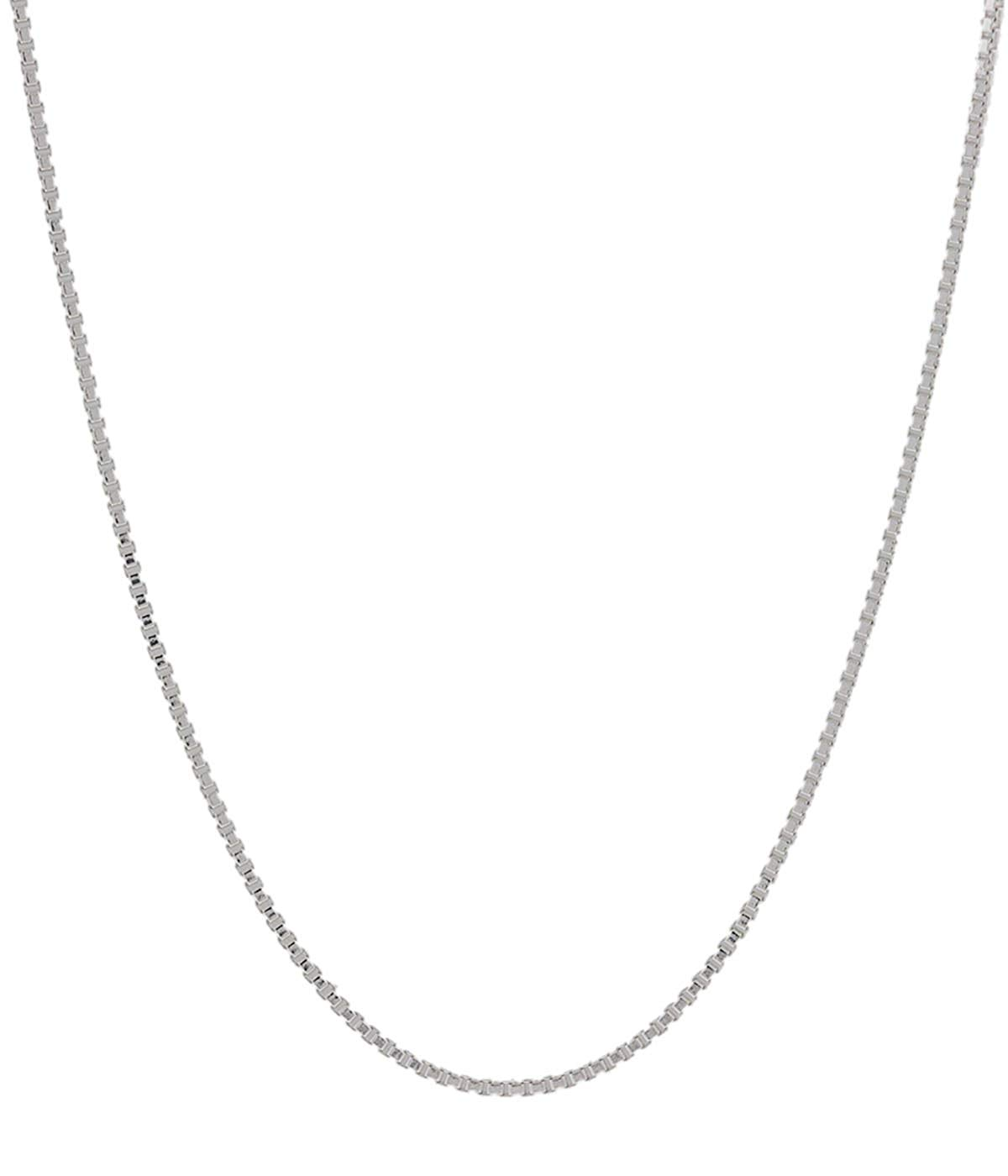 "Italian .925 Sterling Silver 0.6mm Box Chain Necklace (16""-30"")"