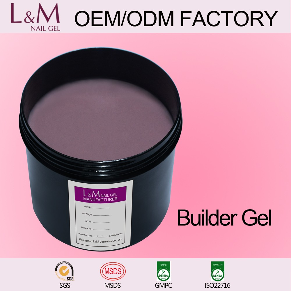 1kg builder gel in bulk gel polish UV LED soak off nailsFactory Wholesale 100% Original clear gel