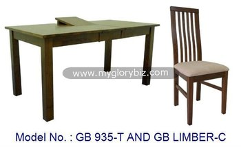 Dining Room Set Wooden Solid Rubber Wood Furniture Wooden Dining