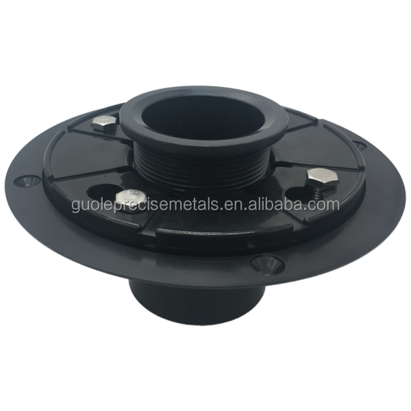Shower drain base with adjustble ring-ABS