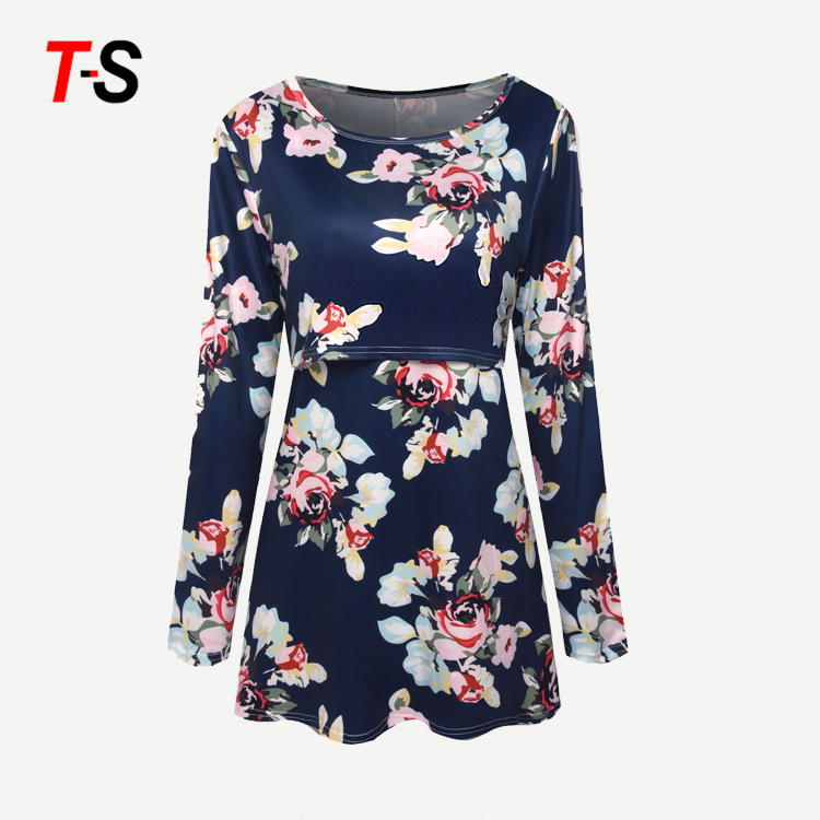 Alibaba.com / New Floral Maternity Nursing Top  Pregnancy Clothes For Pregnant Women