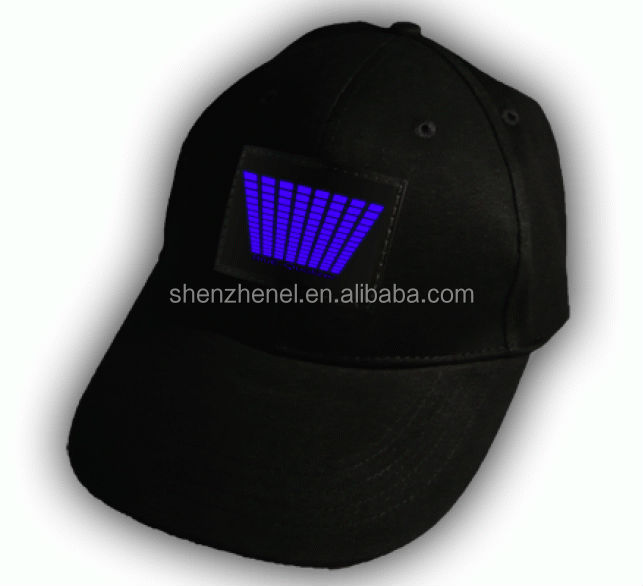 Customized EL lighting advertising cap for promotion