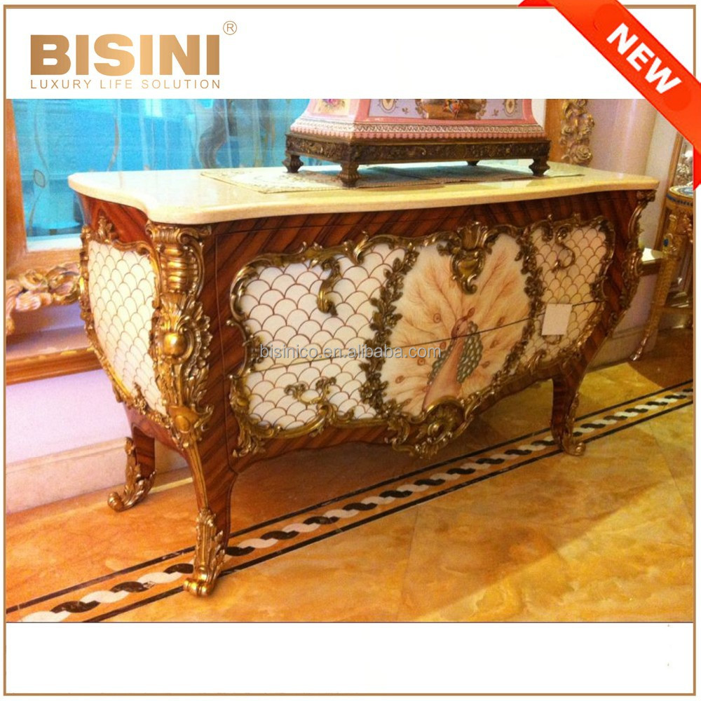 Luxury French Louis Xv 24k Gold Plated Console Table/ European ...