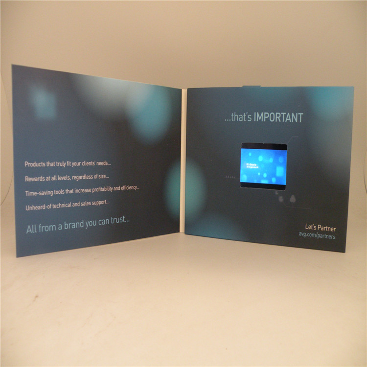 Electronic LCD display invitation postcard
