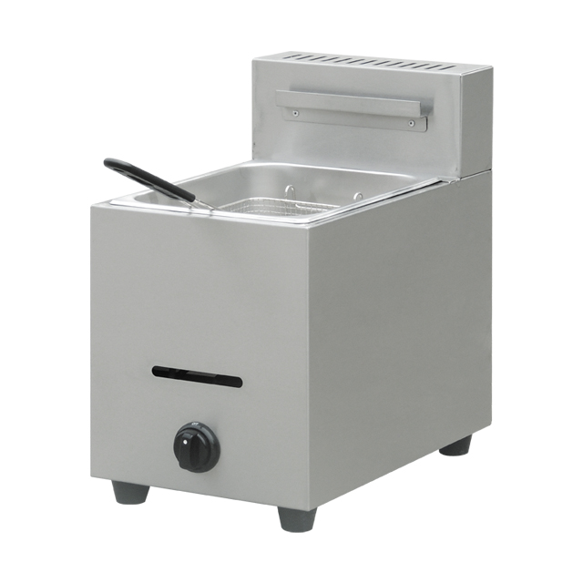 Counter Top NG/LPG Gas Operated 6L Single Tank Gas Deep Fryer Machine Chicken Fryer