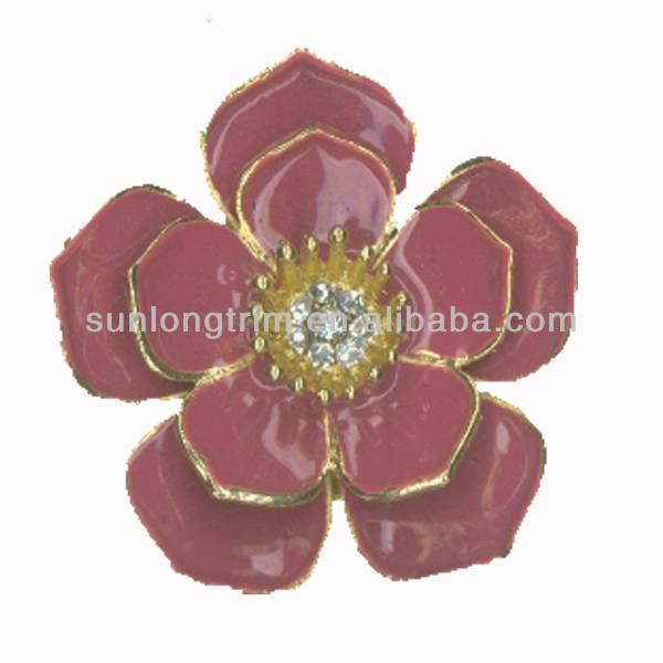 Cute rose metal flower/rose metal flower brooch