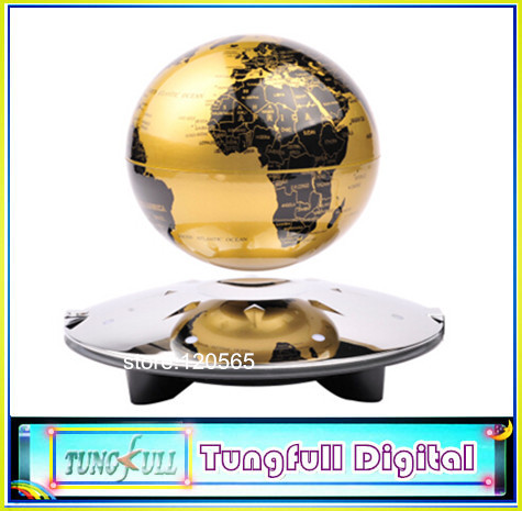 High quality New 4 inch LED light magnetic levitation floating globe,anti gravity rotation, home decoration gifts &crafts