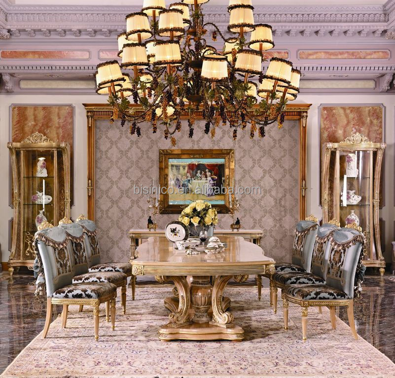 Luxury French Louis Xv Marquetry Dining Room Table/european Vintage Elegant  Wood Carved Dinging Room Table For 8 People   Buy French Dining Room Table,Hand  ...