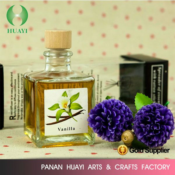 2016 New Style 200ml square glass bottle reed diffuser