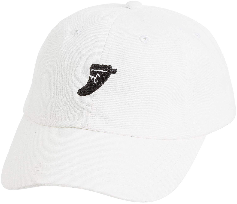 9e9998ec4c484 Get Quotations · New Captain Fin Men s Broken Fin Hat Cotton Polyester White