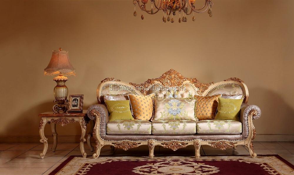Traditional italian white oak upholstery living room sofa - Classic italian living room furniture sets ...