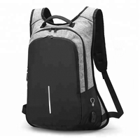 USB reflective waterproof smart anti-theft bag laptop school anti theft backpack