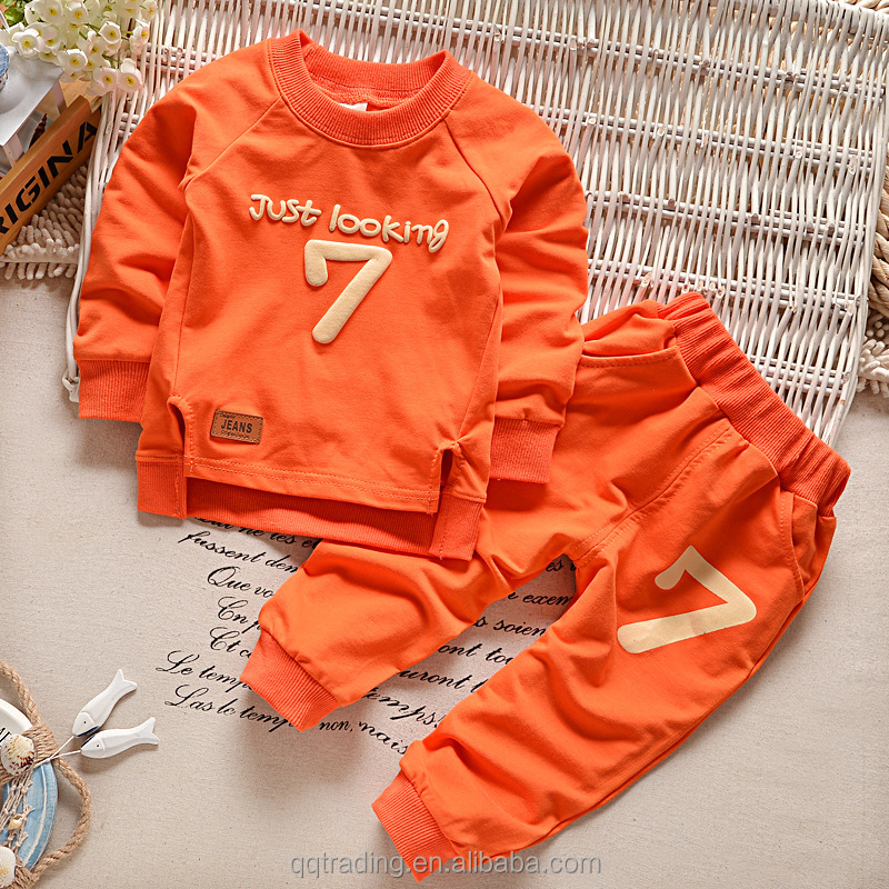 2018 Spring 2 pieces 0-5T kids leisure suit baby girls boys clothes set newborn baby clothing