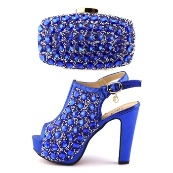 Style Royal Blue Diamond,African Shoes