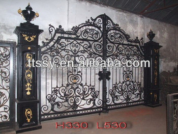 large factory wrought iron gate buy iron decorative gate