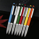Factory Low Price Promotional Paste Drill Stylus Top Metal Ballpoint Pen For Gift