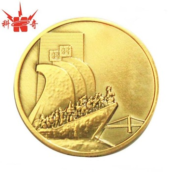 Cheap promotional metal fake gold coins
