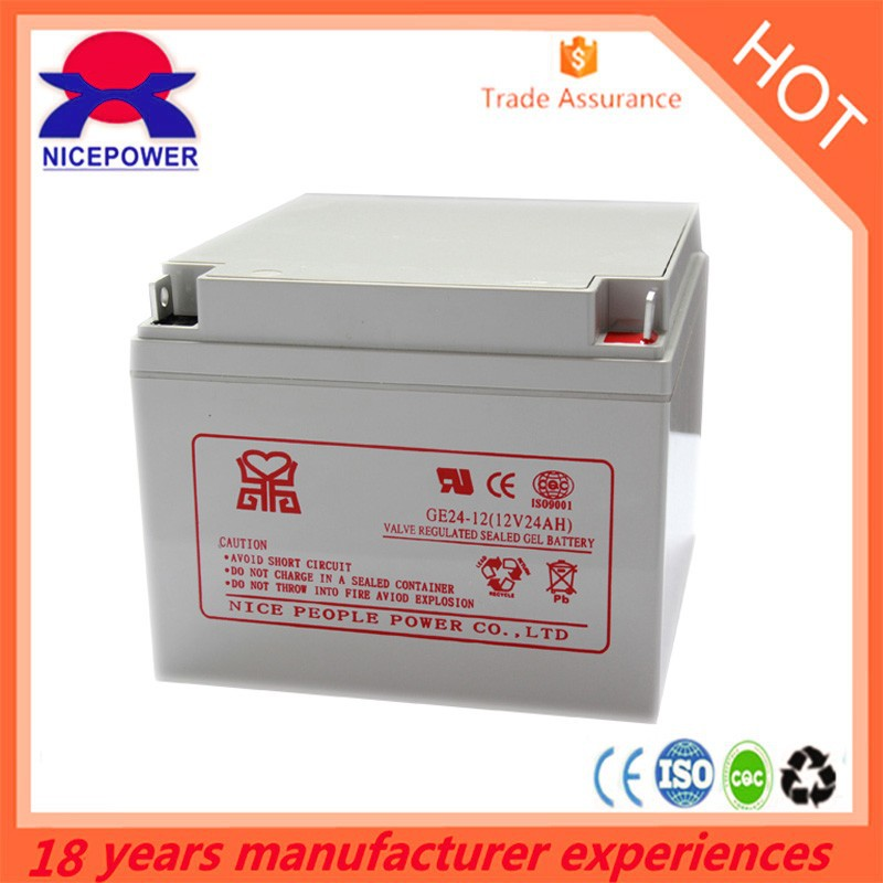 nice power DEEP CYCLE 12V 24AH rechargeable solar battery 24v