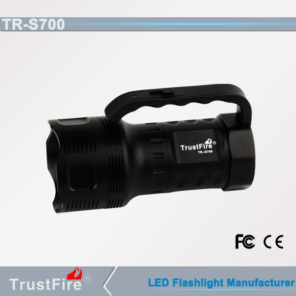 Led railway torch TrustFire S700 police led torch light, power cell batteries led torch rechargeable, explosion-proof led torch