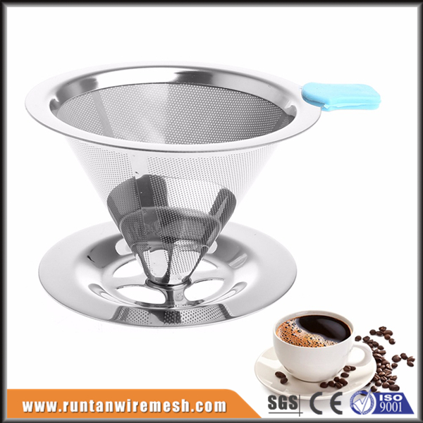 stainless coffee drip cone filter wire mesh strainer